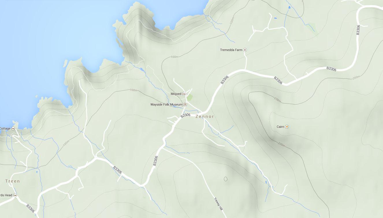 Zennor map